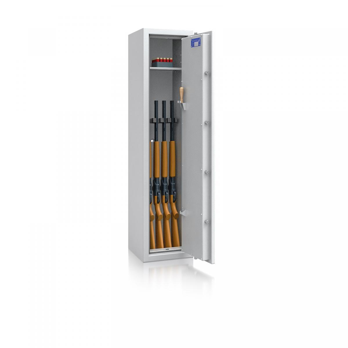 Waffenschrank Luzern WF 3 - 1500x350x350 / 126kg 55647 / Klasse 0 / RAL7035 / Schlüssel / DIN R