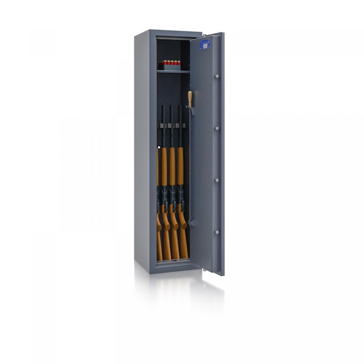 Waffenschrank Luzern WF 3 - 1500x350x350 / 126kg 55647 / Klasse 0 / RAL7024 / Schlüssel / DIN R