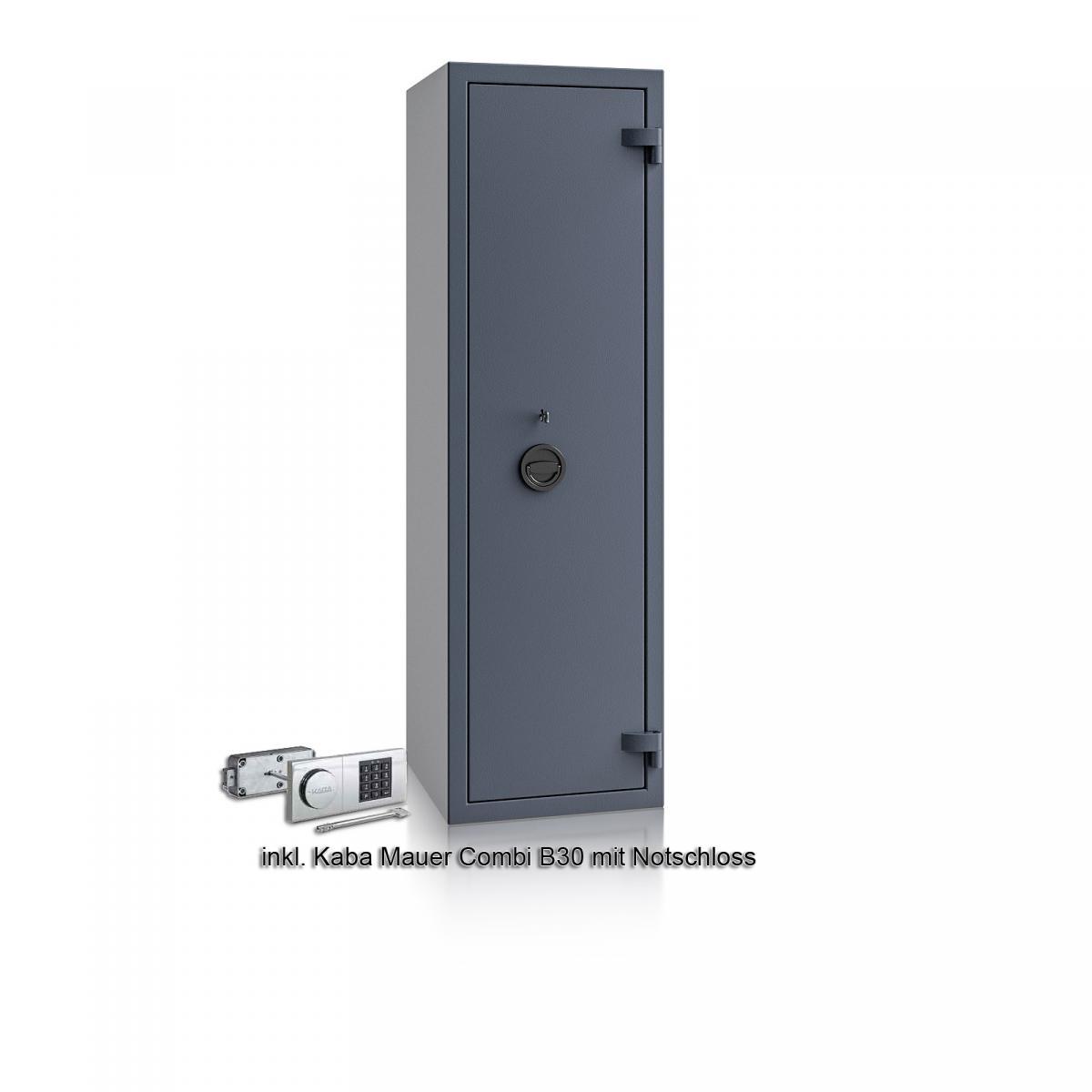 Waffenschrank Luzern WF 5 - 1500x450x450 / 165kg 55649 / Klasse 0 / RAL7024 / Elektr. B30_Rev. / DIN R