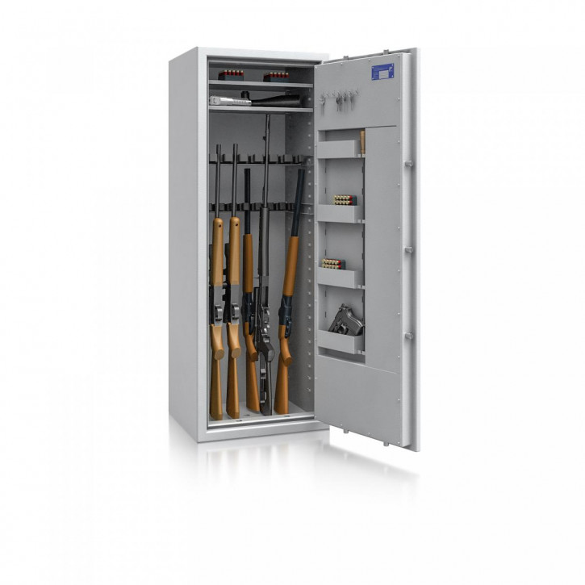 Waffenschrank St. Gallen WF MAX 1 - 1500x550x450 / 179kg 56466 / Klasse I / RAL7035 / Schlüssel / DIN R