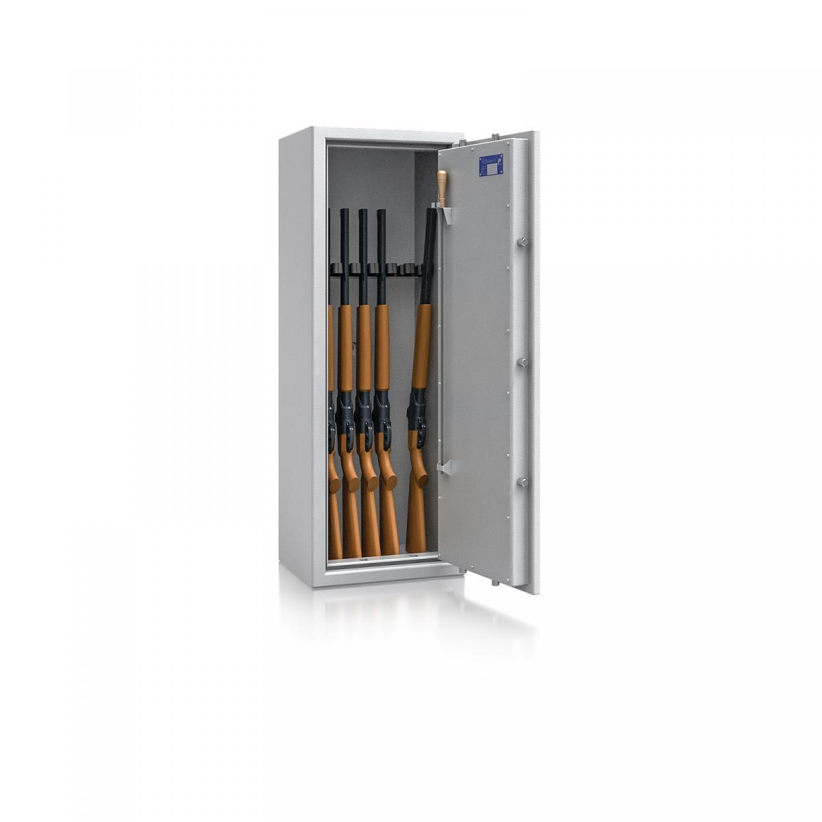 Waffenschrank St. Gallen WF NEW 2 - 1250x450x350 / 109kg 56471 / Klasse I / RAL7035 / Schlüssel / DIN R