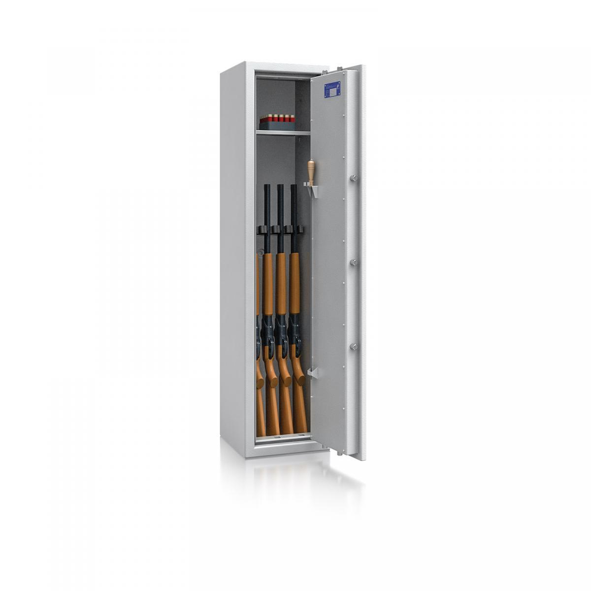 Waffenschrank St. Gallen WF NEW 3 - 1500x350x350 / 131kg 56472 / Klasse I / RAL7035 / Schlüssel / DIN R