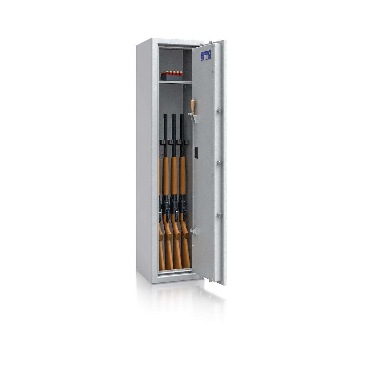 Waffenschrank St. Gallen WF NEW 3 - 1500x350x350 / 131kg 56472 / Klasse I / RAL7035 / Elektr. Basic / DIN R