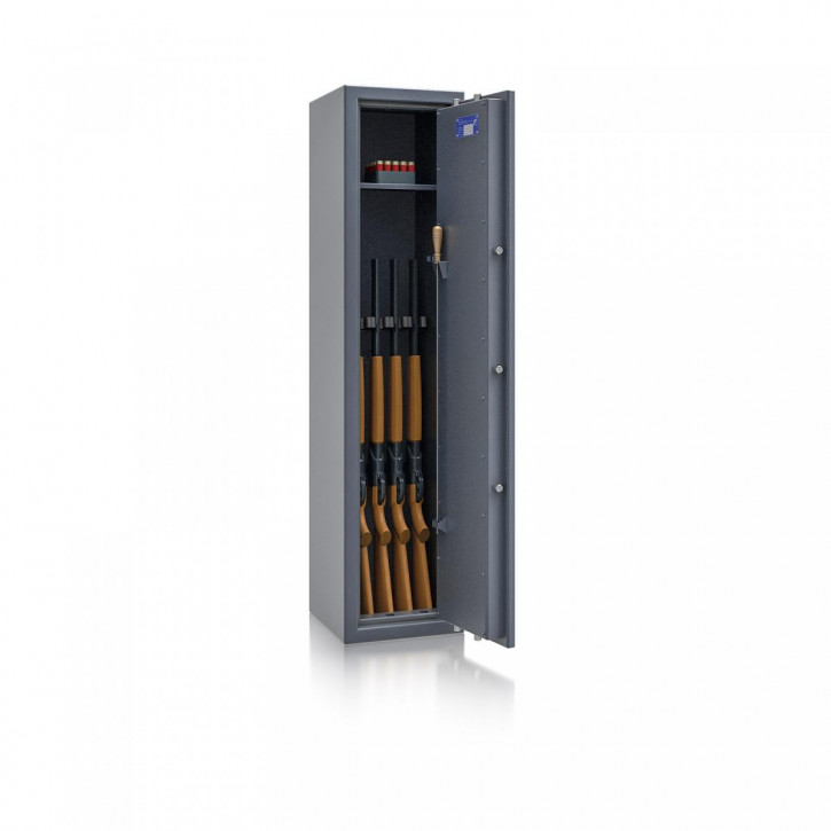 Waffenschrank St. Gallen WF NEW 3 - 1500x350x350 / 131kg 56472 / Klasse I / RAL7024 / Schlüssel / DIN R