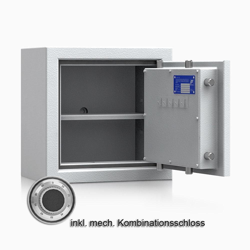 Kurzwaffenschrank - safe4gun 2 - 400x400x270 / 39kg 593101 / Klasse 1 ECB•S / RAL7035 / mech.ZK / DIN R