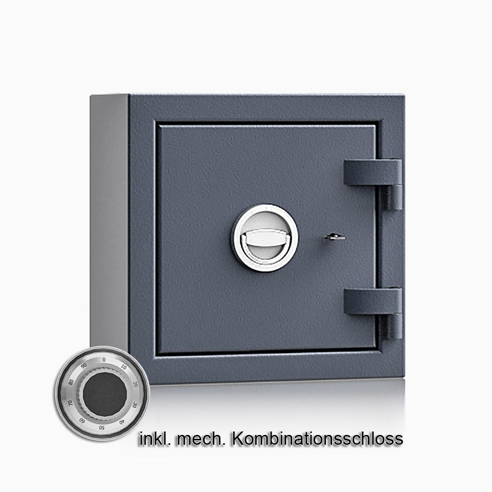 Kurzwaffenschrank - safe4gun 2 - 400x400x270 / 39kg 593101 / Klasse 1 ECB•S / RAL7024 / mech.ZK / DIN R