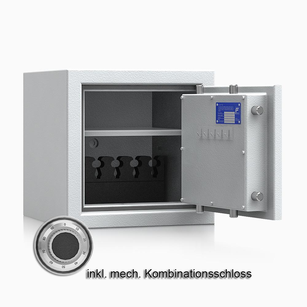 Kurzwaffenschrank - safe4gun 3 - 400x420x420 / 55kg 593102 / Klasse 1 ECB•S / RAL7035 / mech.ZK / DIN R