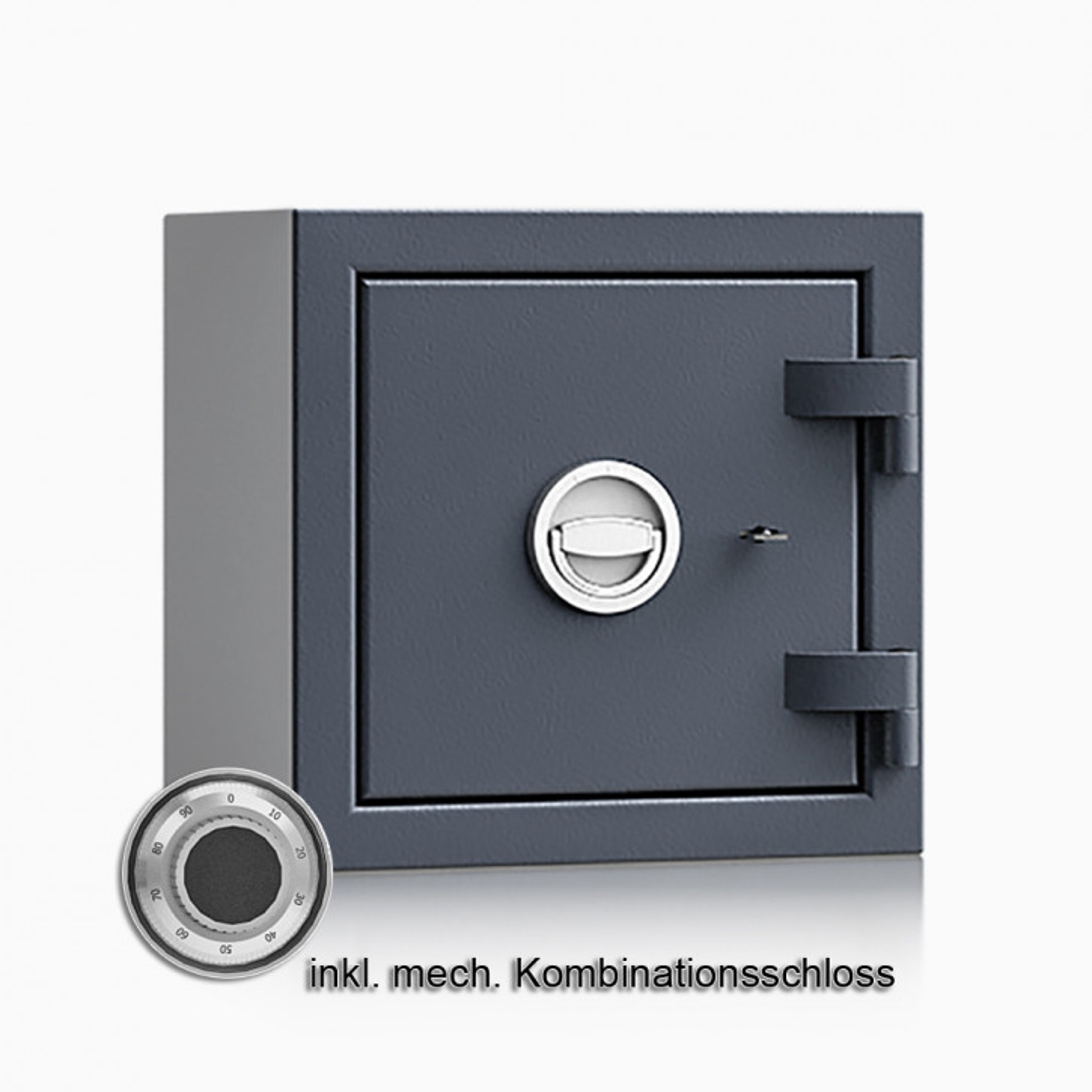 Kurzwaffenschrank - safe4gun 3 - 400x420x420 / 55kg 593102 / Klasse 1 ECB•S / RAL7024 / mech.ZK / DIN R