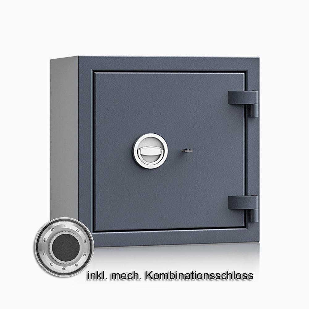 Kurzwaffenschrank - safe4gun 4 - 500x500x420 71kg 593103 / Klasse 1 ECB•S / RAL7024 / mech.ZK / DIN R