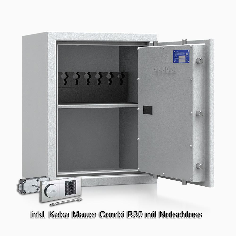 Kurzwaffenschrank - safe4gun 5 - 650x500x420 85kg 593104 / Klasse 1 ECB•S / RAL7035 / B30/Rev. / DIN R