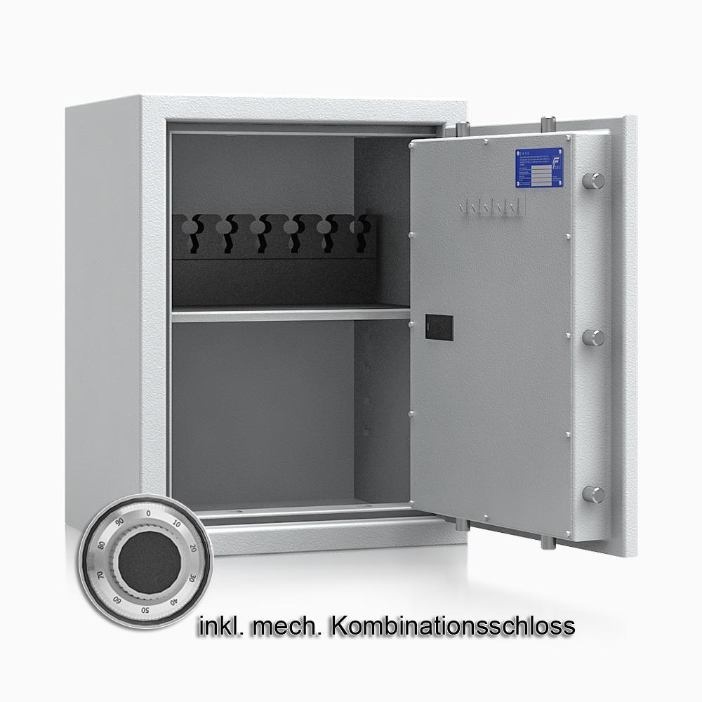 Kurzwaffenschrank - safe4gun 5 - 650x500x420 85kg 593104 / Klasse 1 ECB•S / RAL7035 / mech.ZK / DIN R