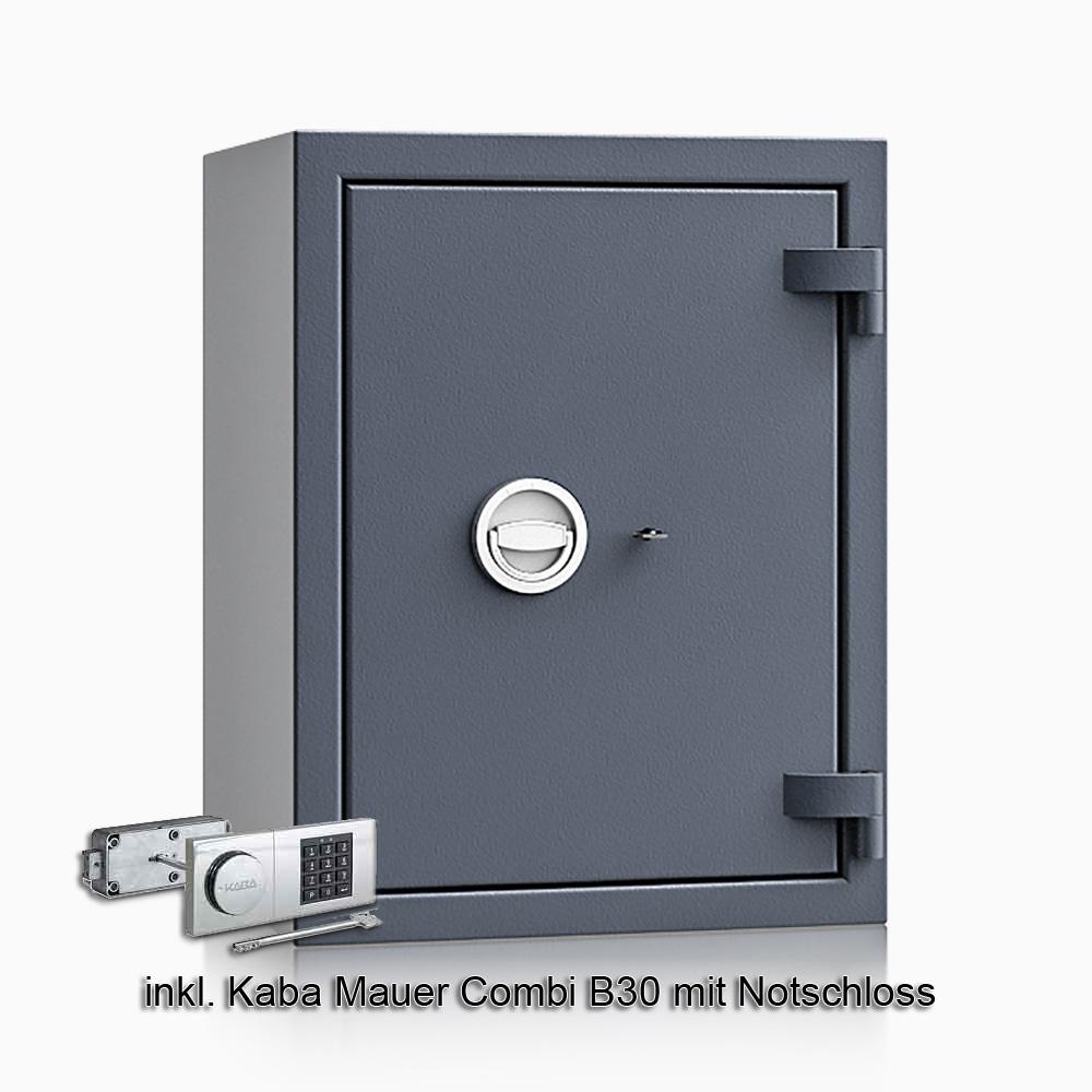 Kurzwaffenschrank - safe4gun 5 - 650x500x420 85kg 593104 / Klasse 1 ECB•S / RAL7024 / B30/Rev. / DIN R