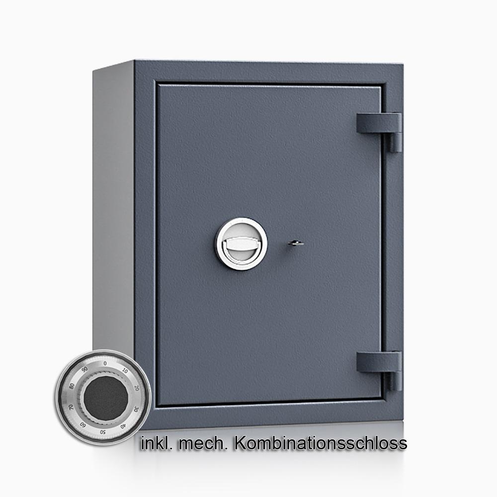 Kurzwaffenschrank - safe4gun 5 - 650x500x420 85kg 593104 / Klasse 1 ECB•S / RAL7024 / mech.ZK / DIN R
