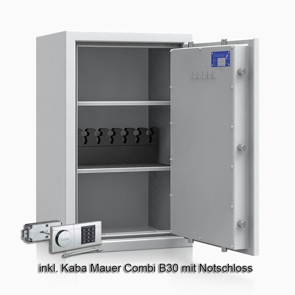 Kurzwaffenschrank - safe4gun 6 - 800x500x420 100kg 593105 / Klasse 1 ECB•S / RAL7035 / B30/Rev. / DIN R