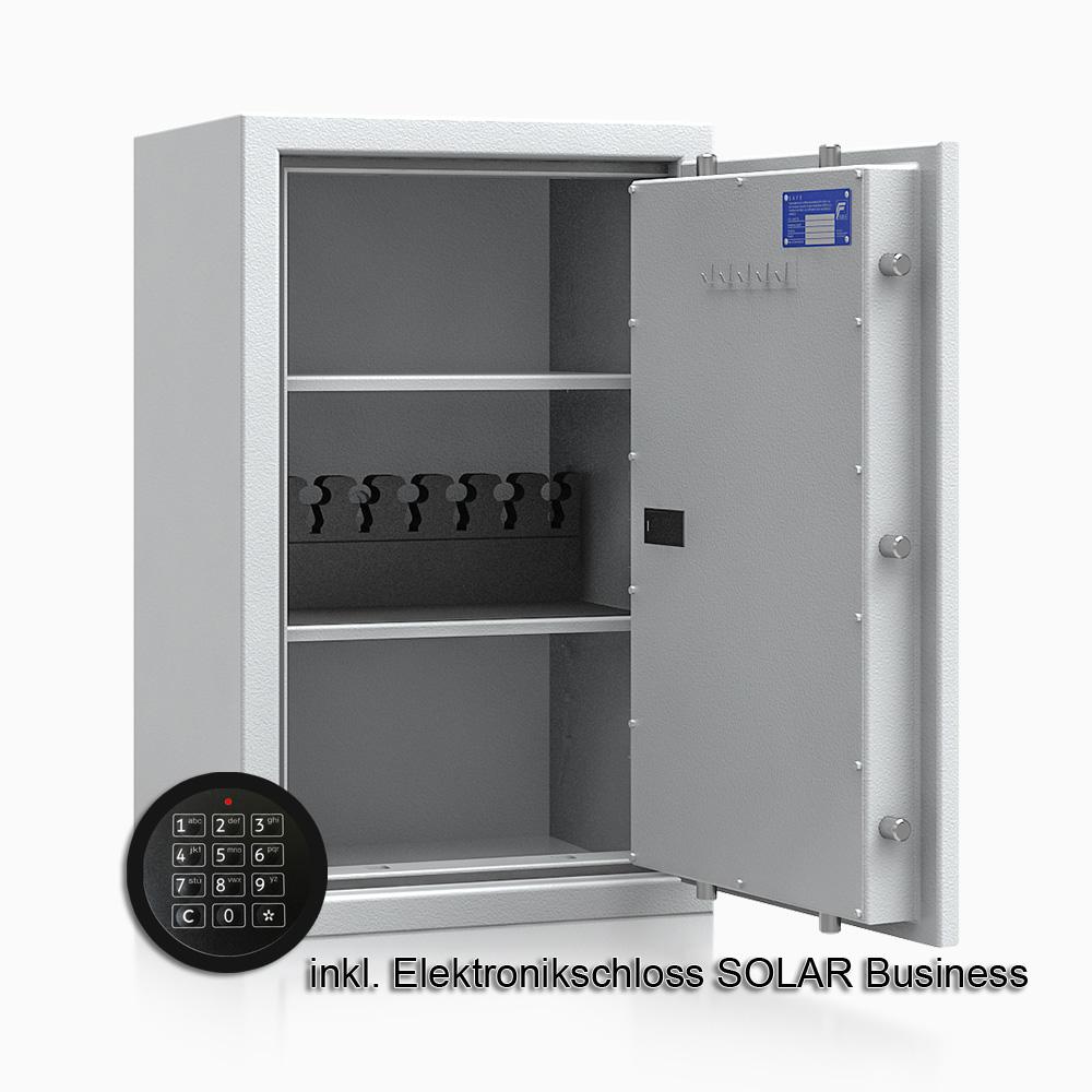 Kurzwaffenschrank - safe4gun 6 - 800x500x420 100kg 593105 / Klasse 1 ECB•S / RAL7035 / Elektr. Business / DIN R