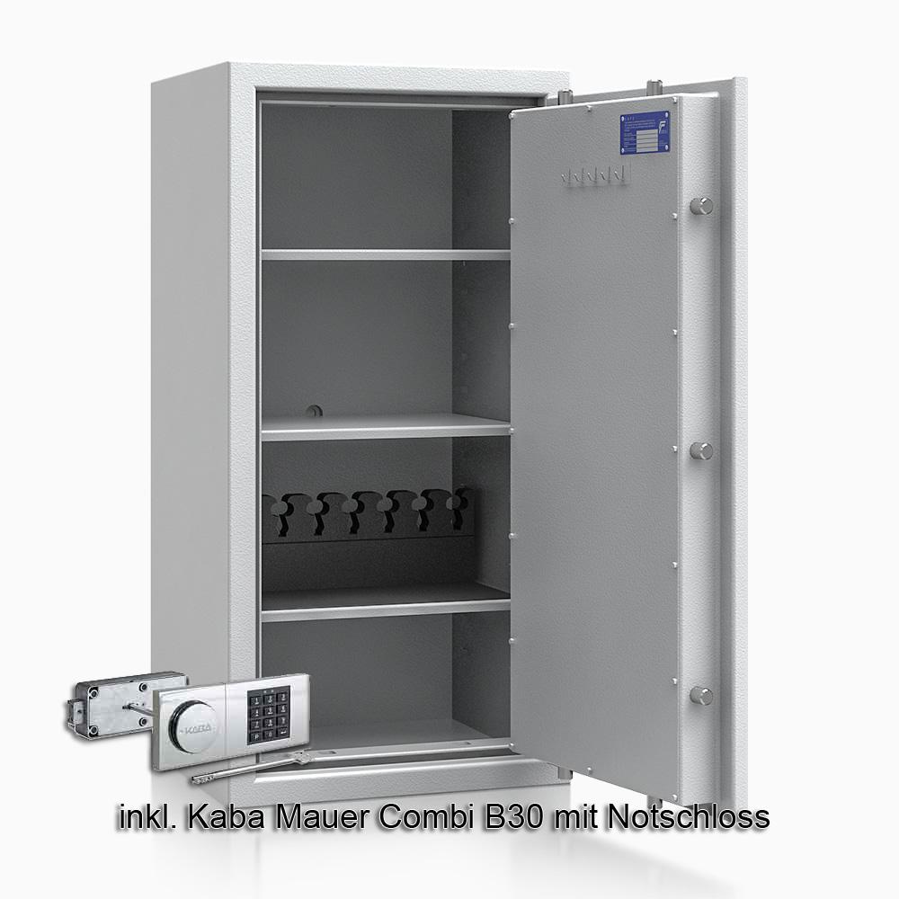 Kurzwaffenschrank - safe4gun 7 - 1000x500x420 120kg 593106 / Klasse 1 ECB•S / RAL7035 / B30/Rev. / DIN R