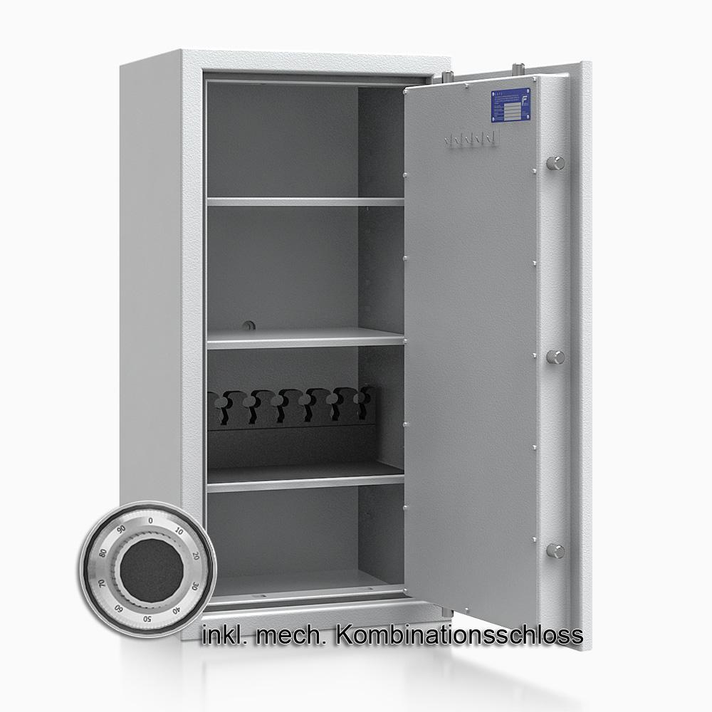 Kurzwaffenschrank - safe4gun 7 - 1000x500x420 120kg 593106 / Klasse 1 ECB•S / RAL7035 / mech.ZK / DIN R