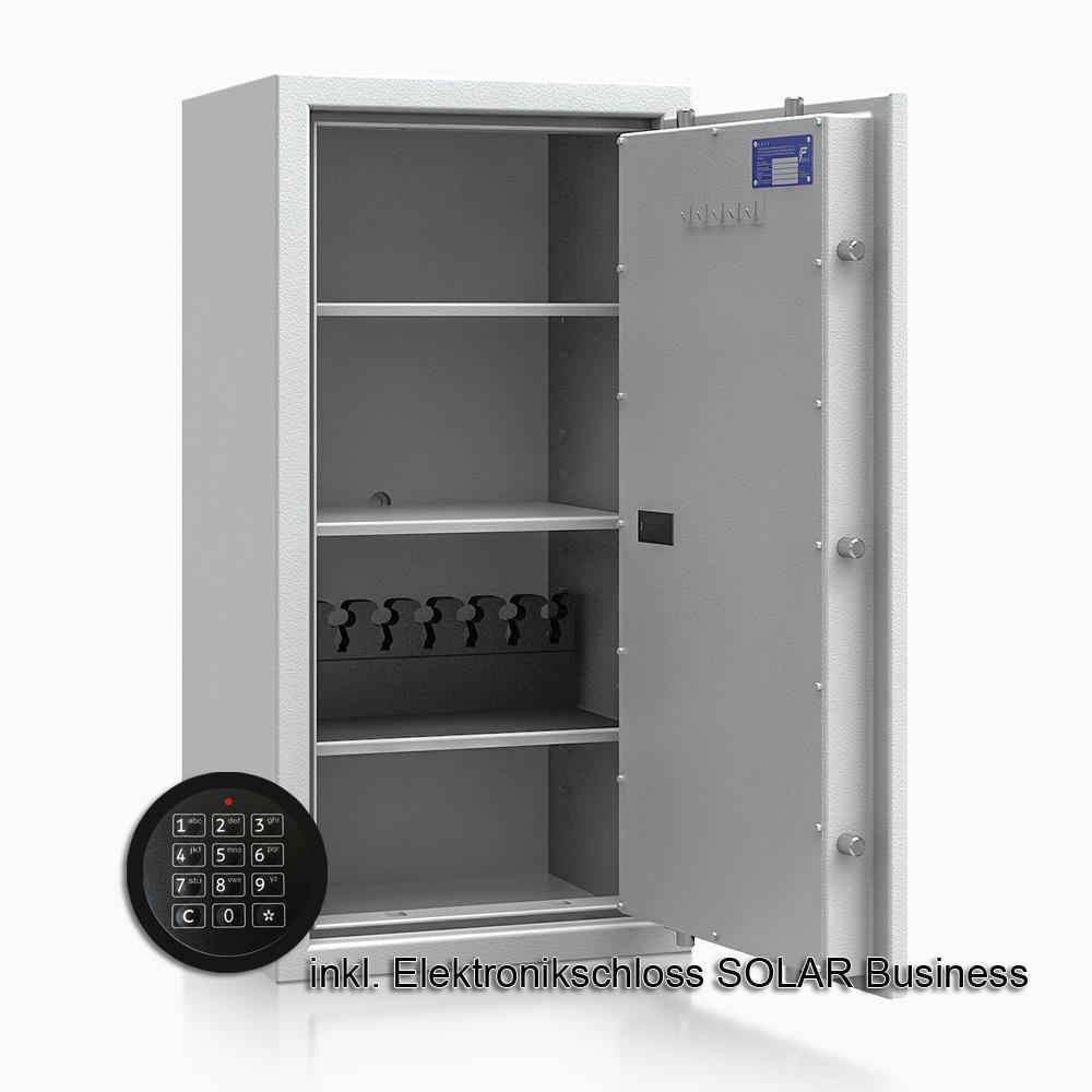Kurzwaffenschrank - safe4gun 7 - 1000x500x420 120kg 593106 / Klasse 1 ECB•S / RAL7035 / Elektr. Business / DIN R