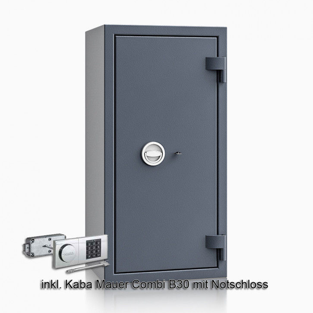 Kurzwaffenschrank - safe4gun 7 - 1000x500x420 120kg 593106 / Klasse 1 ECB•S / RAL7024 / B30/Rev. / DIN R