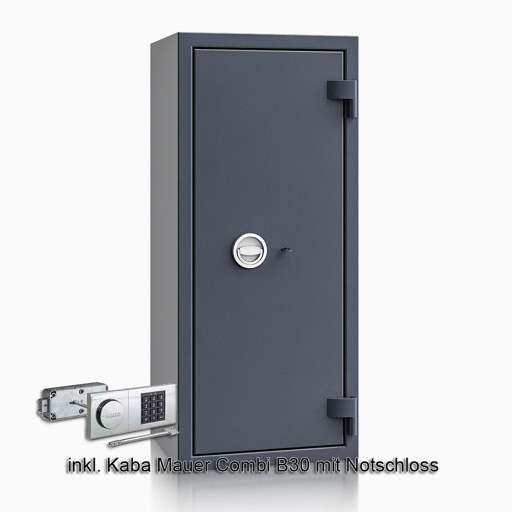 Kurzwaffenschrank - safe4gun 8 - 1150x500x420 135kg 593107 / Klasse 1 ECB•S / RAL7024 / B30/Rev. / DIN R