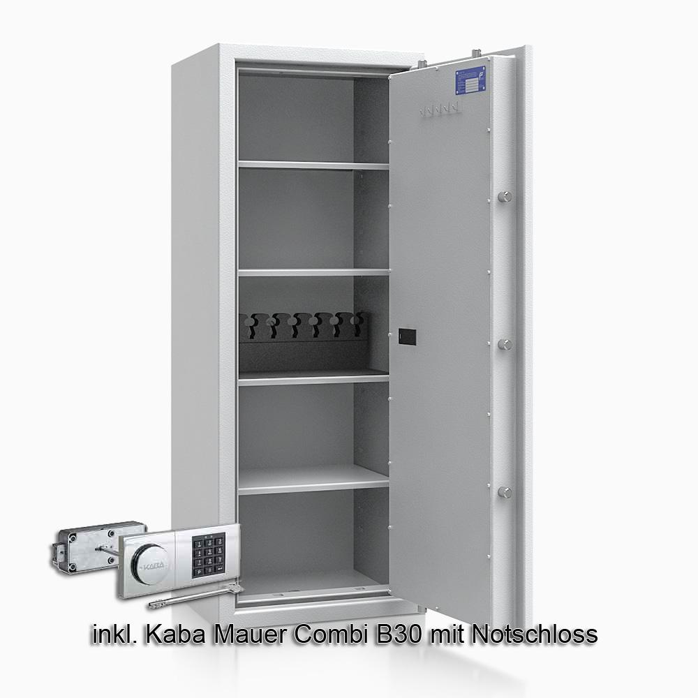 Kurzwaffenschrank - safe4gun 9 - 1300x500x420 150kg 593108 / Klasse 1 ECB•S / RAL7035 / B30/Rev. / DIN R