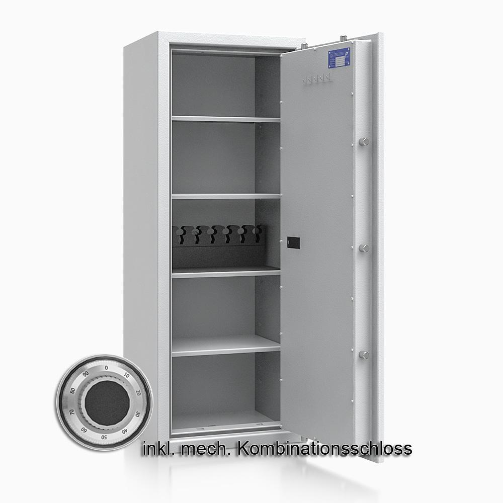 Kurzwaffenschrank - safe4gun 9 - 1300x500x420 150kg 593108 / Klasse 1 ECB•S / RAL7035 / mech.ZK / DIN R