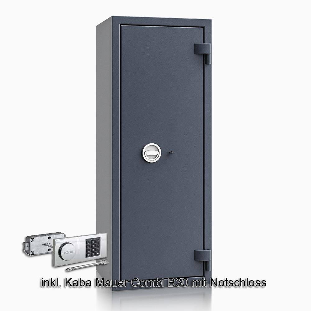 Kurzwaffenschrank - safe4gun 9 - 1300x500x420 150kg 593108 / Klasse 1 ECB•S / RAL7024 / B30/Rev. / DIN R