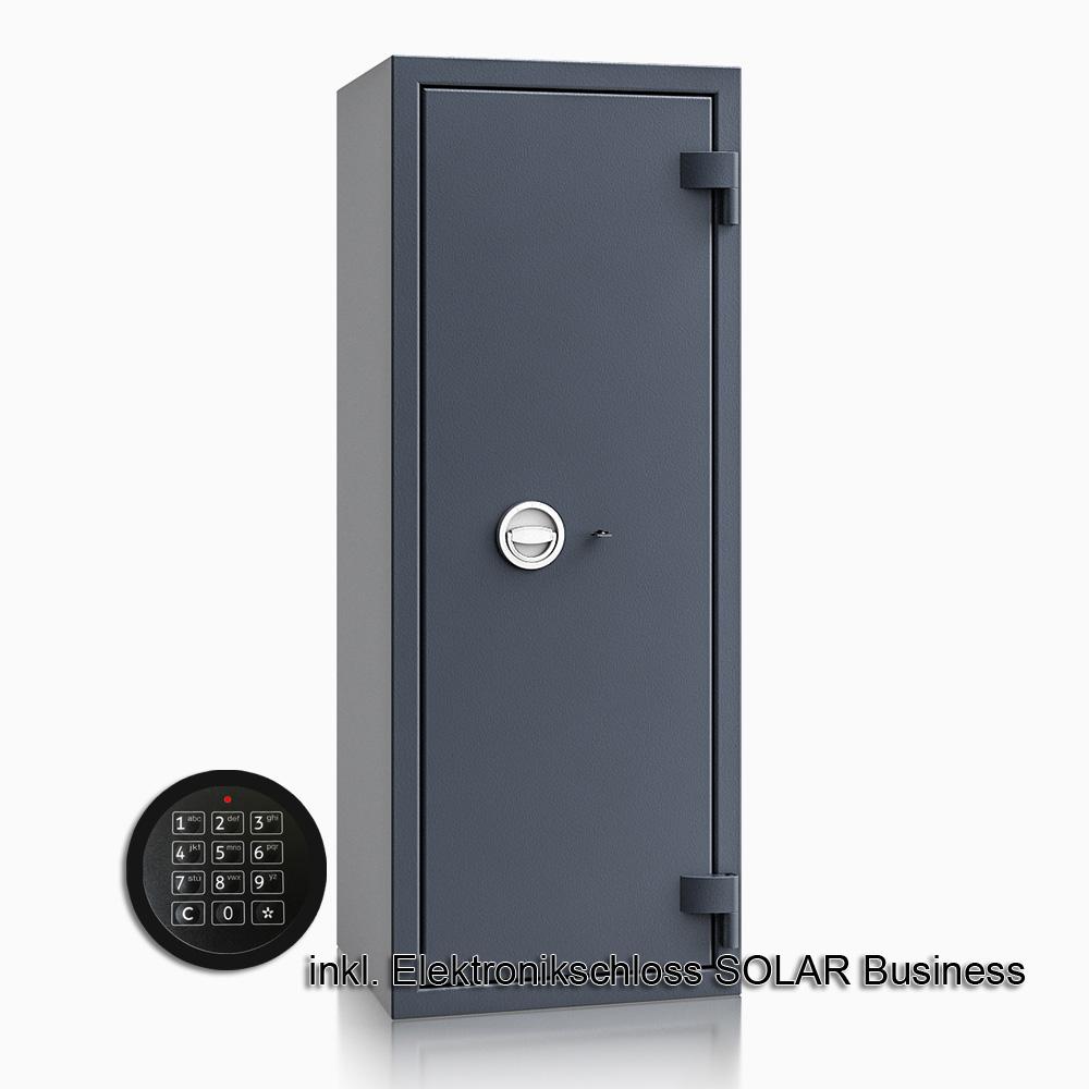 Kurzwaffenschrank - safe4gun 9 - 1300x500x420 150kg 593108 / Klasse 1 ECB•S / RAL7024 / Elektr. Business / DIN R