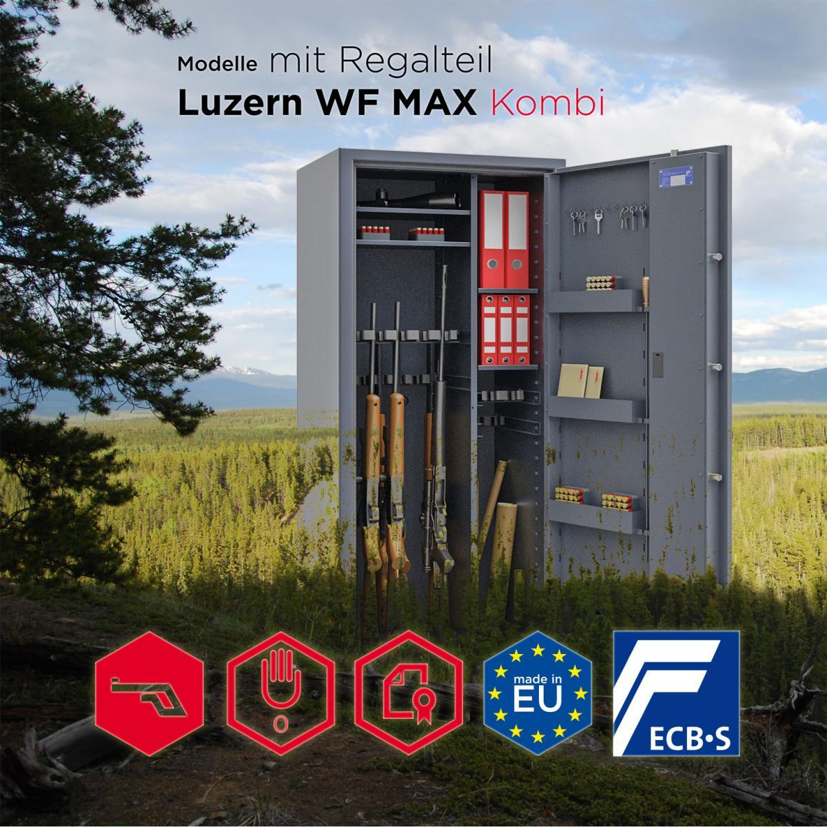 Konfigurator - Waffenschrank Luzern WF MAX Kombi