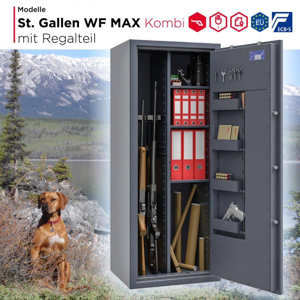 Konfigurator - Waffenschrank St. Gallen WF MAX Kombi