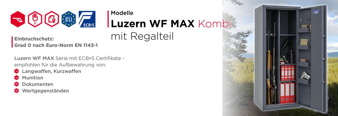 Waffenschrank Luzern WF MAX KOMBI  Klasse 0 nach EN 1143-1 ECB•S - mit Trennwand