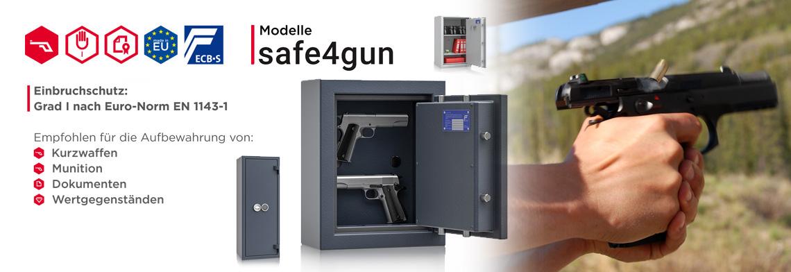safe4gun Kurzwaffenschrankserie in Klasse 1 nach EN 1143-1 günstig kaufen
