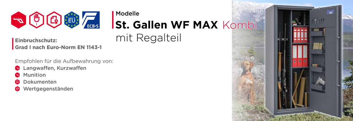 Waffenschrank St. Gallen WF MAX KOMBI Klasse I nach EN 1143-1 ECB•S