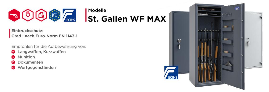 Waffenschrank St. Gallen WF MAX Klasse I nach EN 1143-1 ECB•S