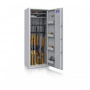 Waffenschrank Luzern WF MAX 1 - 1500x550x450 / 175kg 55631 / Klasse 0 / RAL7035 / Elektr. Business / DIN R / ohne Trennw.