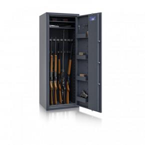 Waffenschrank Luzern WF MAX 1 - 1500x550x450 / 175kg 55631 / Klasse 0 / RAL7024 / Elektr. Basic / DIN R / ohne Trennw.