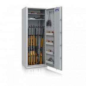Waffenschrank Luzern WF MAX 3 - 1600x600x500 / 220kg 55633 / Klasse 0 / RAL7035 / Elektr. Basic / DIN R / ohne Trennw.