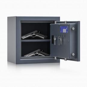 Kurzwaffenschrank - safe4gun 2 - 400x400x270 / 39kg 593101 / Klasse 1 ECB•S / RAL7024 / Elektr. Basic  / DIN R