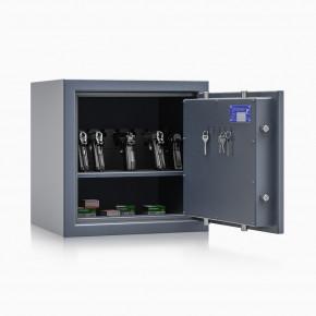 Kurzwaffenschrank - safe4gun 4 - 500x500x420 71kg 593103 / Klasse 1 ECB•S / RAL7024 / Schlüssel / DIN R